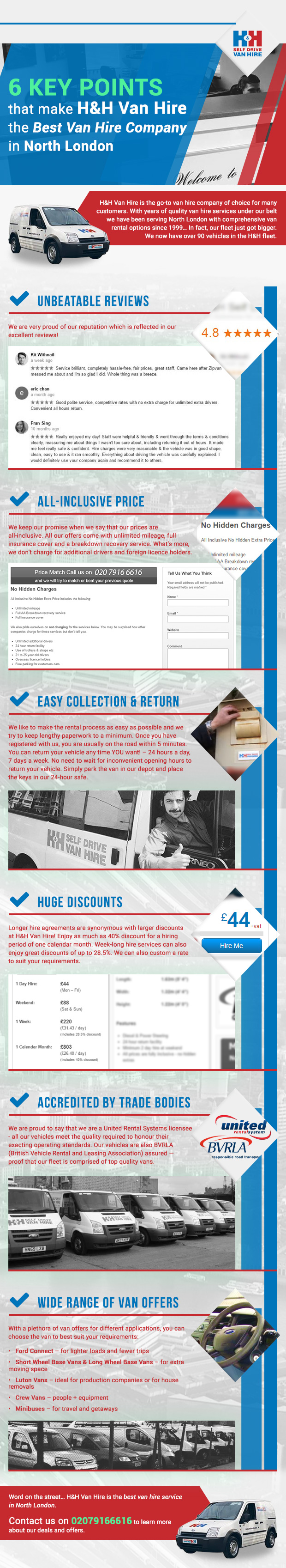 6 Key Points that Make H&H Van Hire the Best Van Hire Company in North London